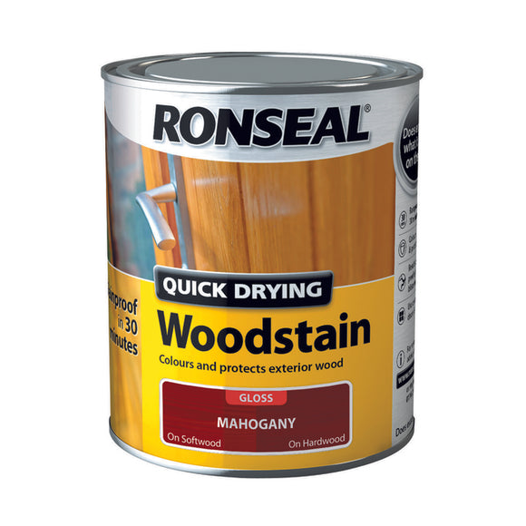 Quick Drying Woodstain 750ml Mahogany Gloss