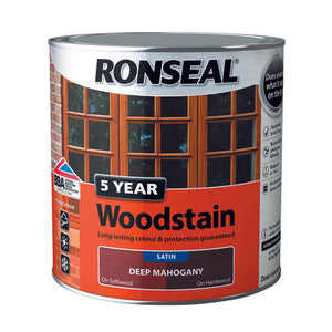 5 Year Woodstain 2.5L Deep Mahogany