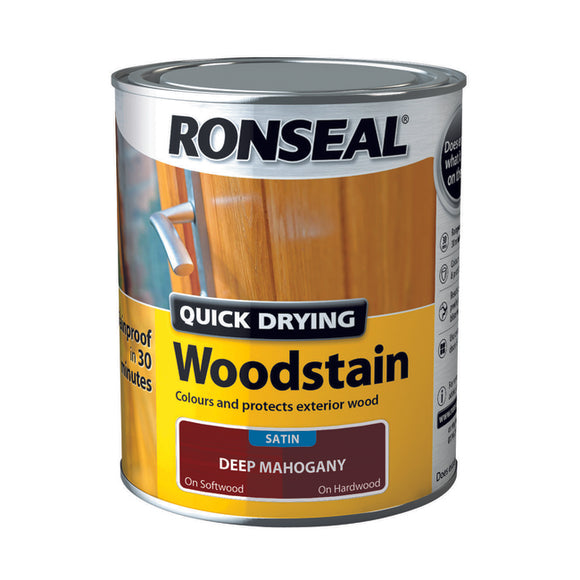 Quick Drying Woodstain 750ml Deep Mahogany