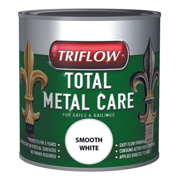 Triflow Metal Care For Gates & Railings 500ml White Smooth