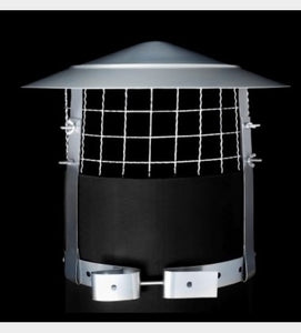 Anti Bird / Anti Rain Chimney Cowl Stainless Steel - 420704