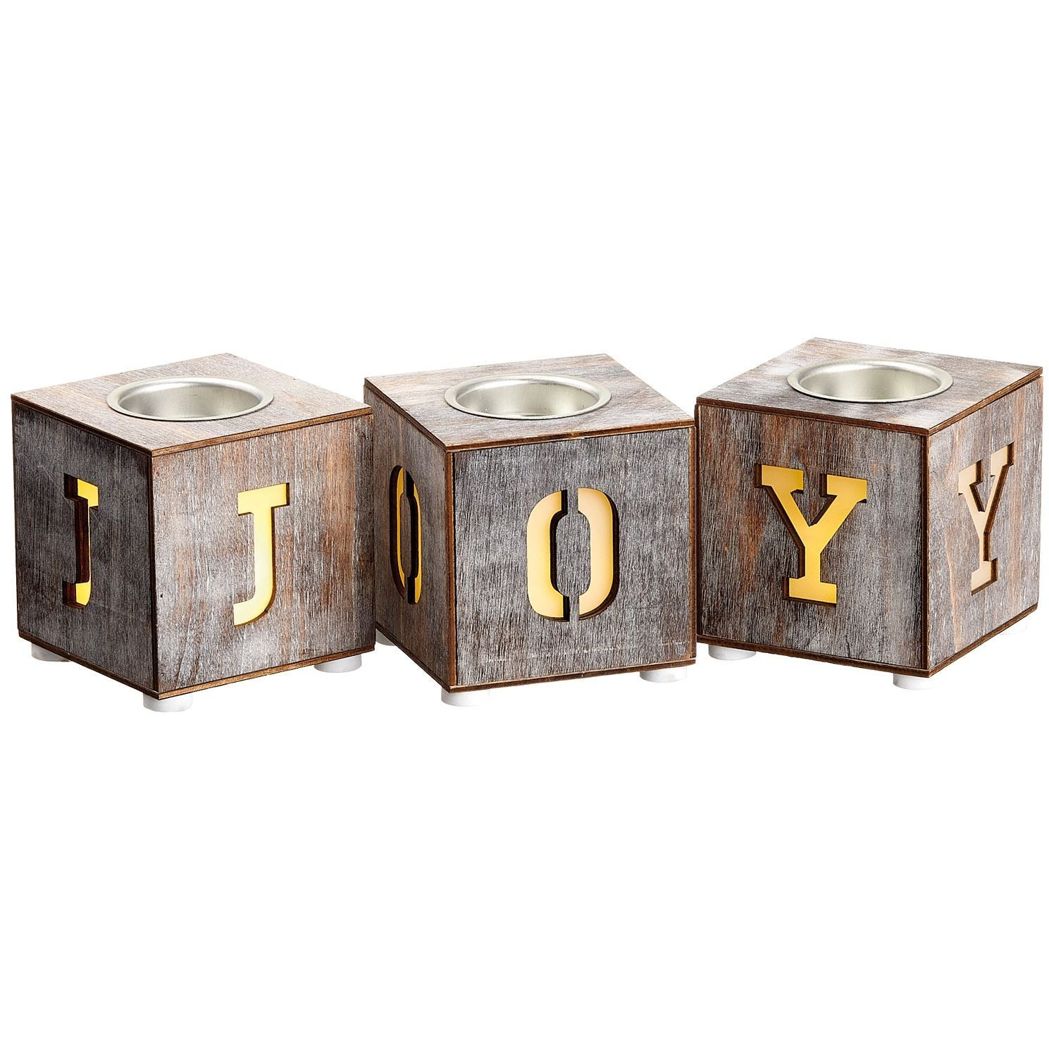Set 3 Candelabros Joy con Luz LED