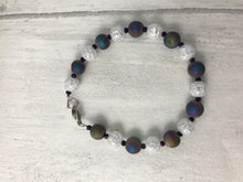 Load image into Gallery viewer, Titanium Coated Druzy and Cracked Rock Crystal Bracelet