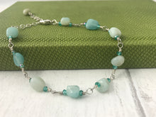 Load image into Gallery viewer, Smooth Amazonite and Sterling Silver Bracelet