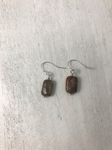 Picasso Jasper Sterling Silver Earrings