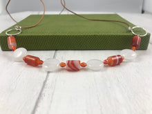 Load image into Gallery viewer, Retro Orange and White Necklace