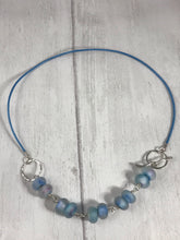 Load image into Gallery viewer, Blue Glass Beaded Neacklace