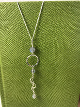 Load image into Gallery viewer, Labradorite Sea Inspired Pendant and Chain
