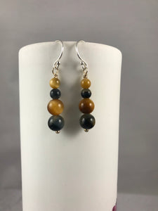 Golden Eye Blue Earrings
