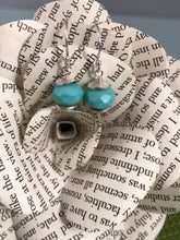 Load image into Gallery viewer, Czech Turquoise Glass Earrings