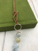 Load image into Gallery viewer, Aquamarine and Copper Toggle Necklace