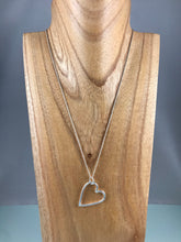 Load image into Gallery viewer, Fine Silver Heart Pendant and Chain