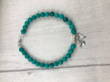 Load image into Gallery viewer, Turquoise Horse Charm Bracelet