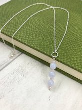 Load image into Gallery viewer, Blue Lace Agate Pendant and Chain