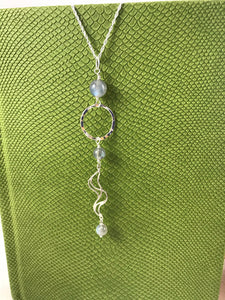 Labradorite Sea Inspired Pendant and Chain