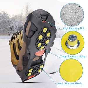 5 Metal Spiked Anti Slip Spikes Grips Crampon Cleats Overshoe Ice Snow 3 Sizes