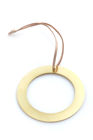 Circle with Hole Ornament - Brass