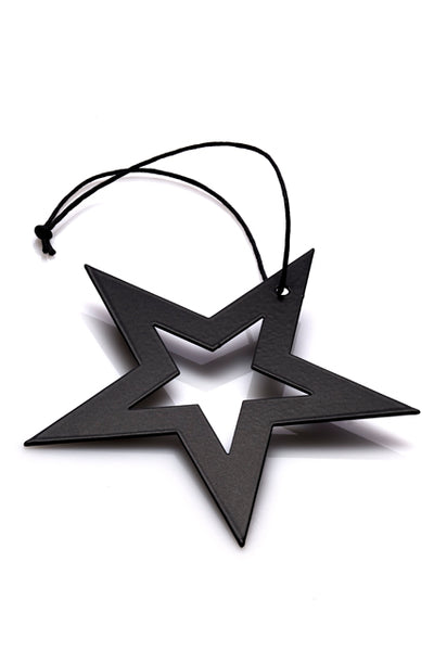 Star with Hole Ornament Black - moderne julepynt fra MALLING LIVING
