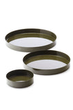 Round Tray Set Green from MALLING LIVING