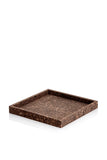 Square Smoked Cork Tray from MALLING LIVING