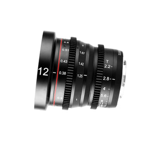Meike Cinema Prime 12mm T2.2 for Micro4/3 MFT - Revar Cine