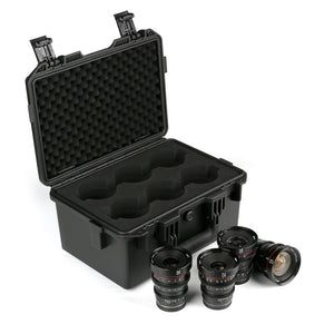 Meike 4 Lens Cinema Prime Set 12mm, 16mm, 25mm, 35mm T2.2 w/ Case for Micro4/3 MFT - Revar Cine