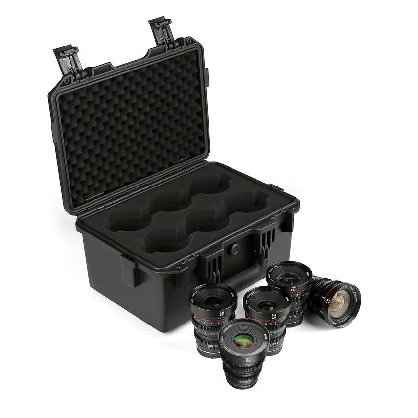 Meike 5-Lens Cinema Prime Set Bundle with Case for Micro4/3 MFT - Revar Cine