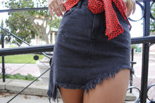Load image into Gallery viewer, Unbalanced Denim Skirt