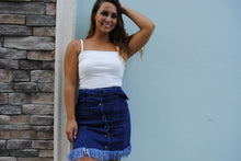 Load image into Gallery viewer, Stripped Down Denim Skirt