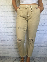 Load image into Gallery viewer, Twill Boyfriend Pants