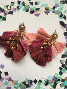 Pink Puff Earrings