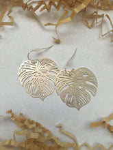 Load image into Gallery viewer, Monstera Stencil Earrings