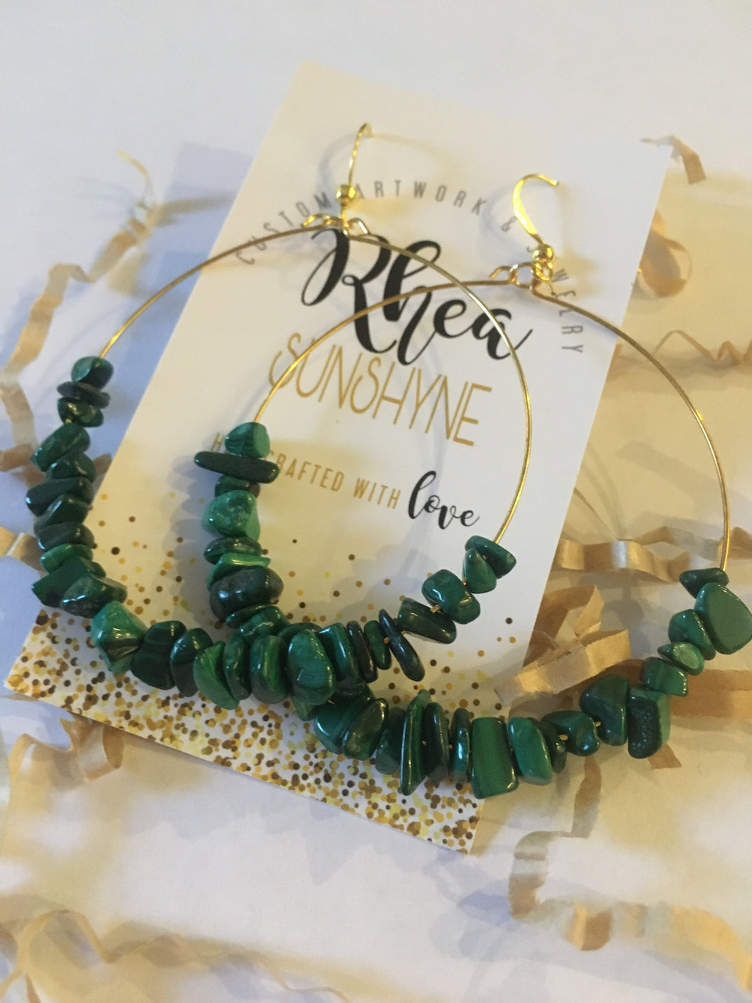 Green Monica Earrings