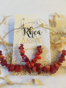 Red Monica Earrings