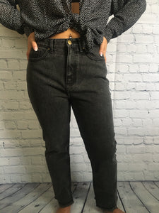 Washed Out High-Waist Denim