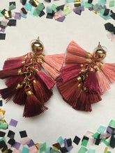 Load image into Gallery viewer, Pink Puff Earrings