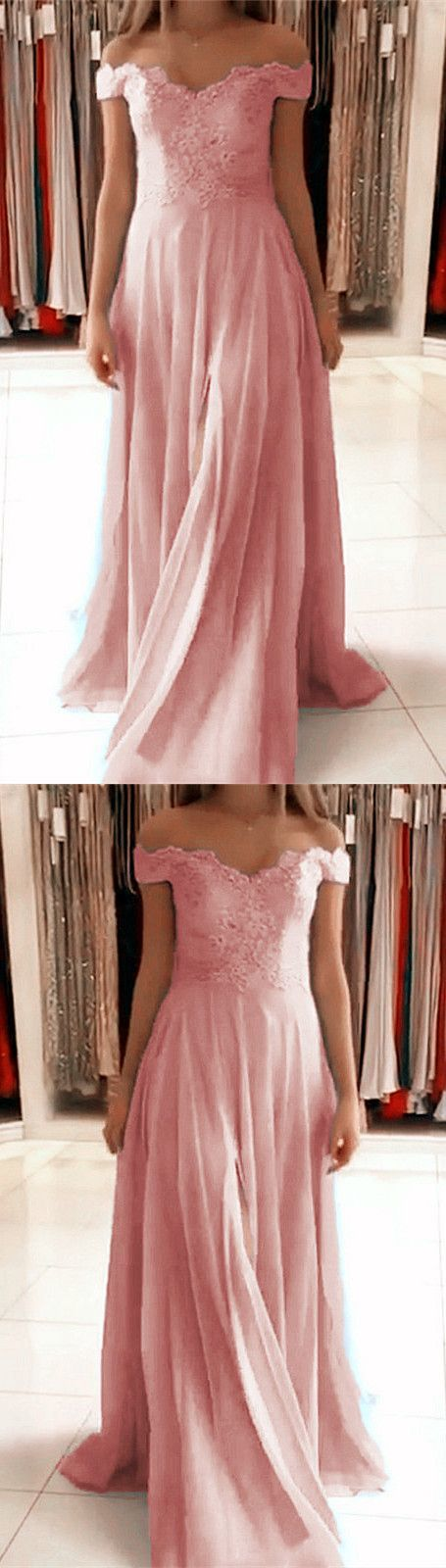 light pink chiffon bridesmaid dresses off the shoulder