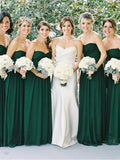 Fashion A-Line/Princess Sweetheart Floor-Length Sleeveless Chiffon Bridesmaid Dresses YB33PO576