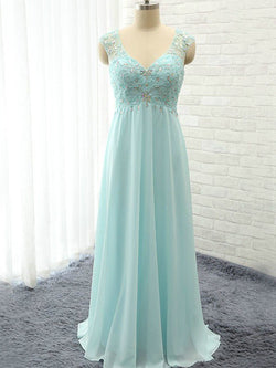 A-Line Sweetheart Chiffon Sleeveless Floor-Length With Beading Bridesmaid Dresses