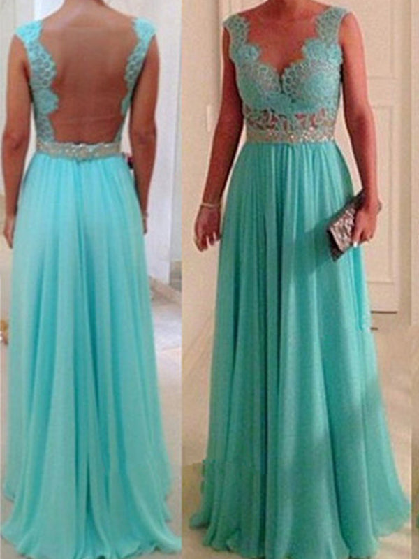 Fashion A-Line/Princess Sweetheart Floor-Length Sleeveless Beading Chiffon Bridesmaid Dresses YB33PO611