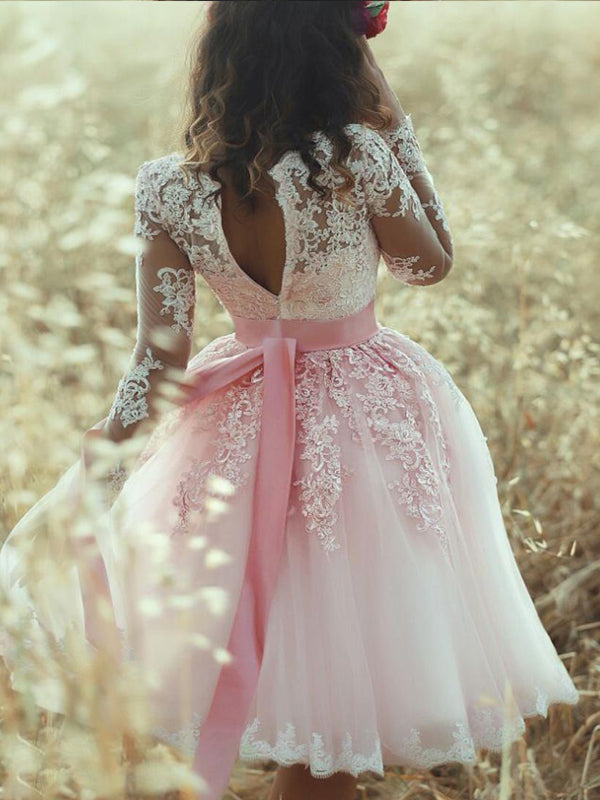 Stylish A-Line/Princess Sweetheart Lace Sleeveless Tulle Short/Mini Dresses YB33PO677