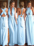 Fashion A-Line/Princess Chiffon Floor-Length Sleeveless Bridesmaid Dresses YB741