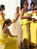 Fashion Trumpet/Mermaid Sleeveless Floor-Length Sweetheart Satin Bridesmaid Dresses YB753