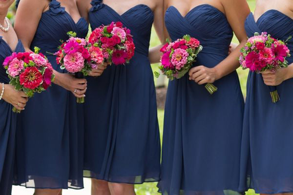 Stylish A-Line/Princess Sweetheart Short/Mini Sleeveless Chiffon Bridesmaid Dresses YB764