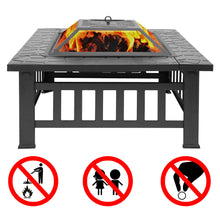 Load image into Gallery viewer, Wood Burning Fire Pit Outdoor Heater Backyard Patio Deck Stove Fireplace - QSR-Unlimited