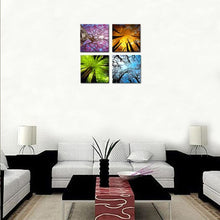 Load image into Gallery viewer, 4 Panels Canvas Wall Art Spring Summer Autumn Winter Four Seasons Landscape - QSR-Unlimited