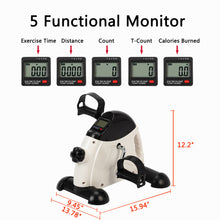 Load image into Gallery viewer, Under Desk Bike Pedal Exerciser Portable Mini for Arm/Leg w/LCD Display - QSR-Unlimited