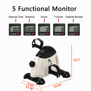 Under Desk Bike Pedal Exerciser Portable Mini for Arm/Leg w/LCD Display - QSR-Unlimited