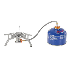 3000W Camping Gas Stove Outdoor Cooking Portable Foldable Split Burner with Gas Conversion Head Adapter - QSR-Unlimited