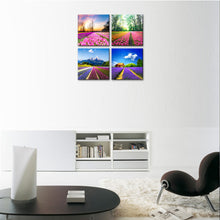 Load image into Gallery viewer, Canvas Prints Tulip Lavender Field Wall Art Colorful Flowers Artworks on Canvas - QSR-Unlimited